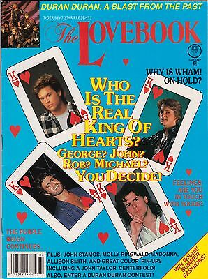 Lovebook Magazine July 1986 Duran Rob Lowe George Michael Prince Madonna Wham!
