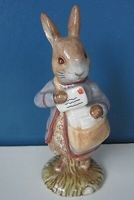 "SUPER BESWICK BEATRIX POTTER FIGURINE ""PETER WITH POSTBAG"" - 5"" Tall, 1999, VGC"