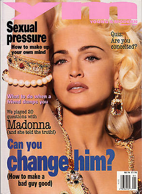 YM Magazine January 1993 Madonna Material Girl Rare YOUNG AND MODERN Louise Cicc