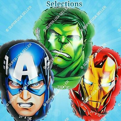 INCREDIBLE HULK Foil Balloons AVENGERS MARVEL E Shower Birthday Party Supply lot