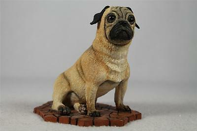 Pug Puppy Dog Sitting Figurine/Statue By Country Artists  #89031  Ret'd.  NIB