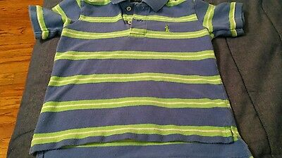 polo ralph lauren baby boy short sleeve shirt 3T lot of 2 blue stripe & black
