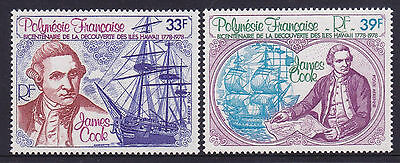 *FRENCH POLYNESIA.MUH.1978.CAPTAIN JAMES COOK.SET of TWO.SG266/7.*