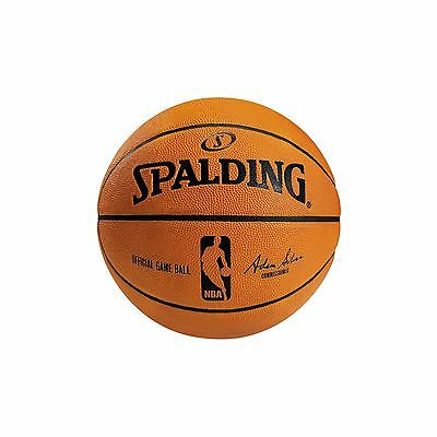 Genuine Leather Official Spalding NBA Adam Silver Commisioner Basketball Size 7