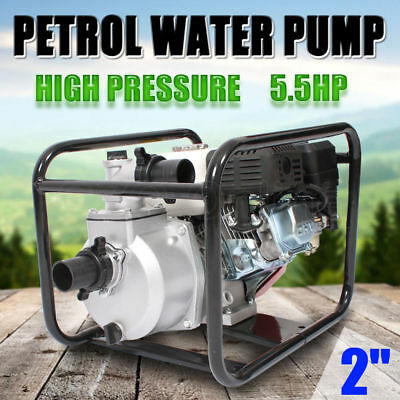 "5.5HP 2"" Petrol Water Transfer Pump High Pressure Fire Fighting Farm Irrigation"