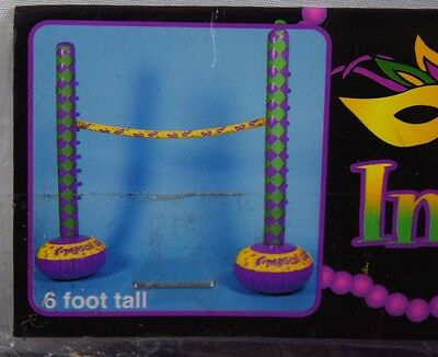 Mardi Gras Party Inflatable Limbo Summer Yard Game Fat Tuesday Carnival Decor