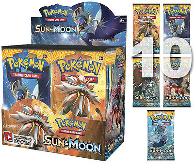 10 Booster x 10-Cards/Pack SM1 Sun & Moon Pokemon | Sealed English Genuine