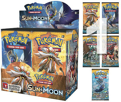 1 Booster x 10-Cards/Pack SM1 Sun & Moon Pokemon | Sealed English Genuine