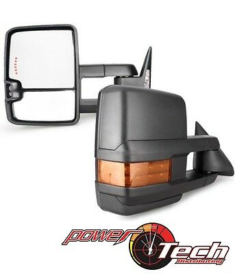 for 88-98 Silverado Towing Power Heated Mirrors LED Signal Clearance Lamp