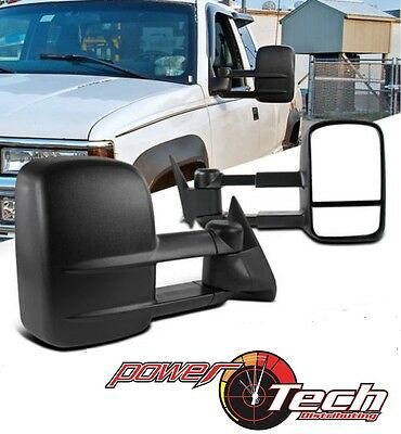 Manual Telescoping Towing Mirror For 88-98 Chevy/GMC C/K Truck Side Mirrors Pair