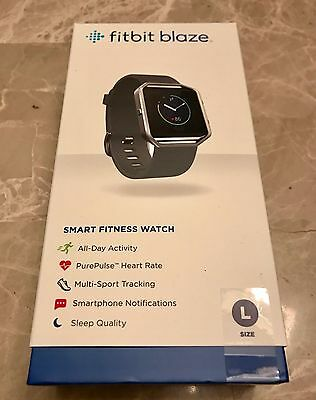 Fitbit Blaze -Smart Fitness Watch (LARGE - BLACK) BRAND NEW & FACTORY SEALED