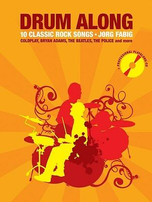 Drum Along - 10 Classic Rock Songs. Drums Sheet Music, CD