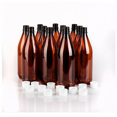 750ml PET Bottle with Caps 15 PCs Home Brew Beer Screw Cap  55677