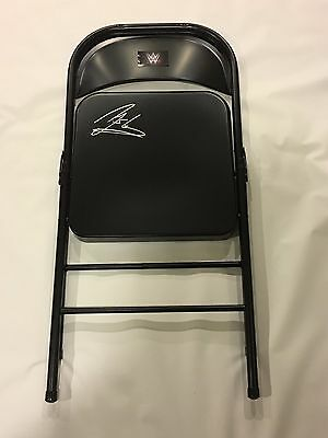Aj Styles Signed Steel Chair Wwf Wwe Autographed Champion A.j. Rare