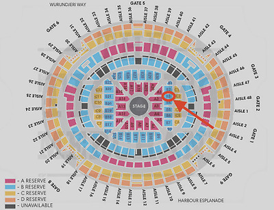 2xTickets = $700 | ADELE TICKETS Melbourne | RESERVE B3 SEATS | March 19