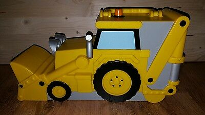 Bob The Builder carry case Scoop Tractor Cars Storage Yellow Large