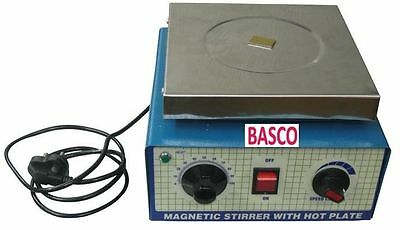 220V, 2000 ml,Magnetic Stirrer With Hot Plate Free Pellet By BASCO DHL Shipping