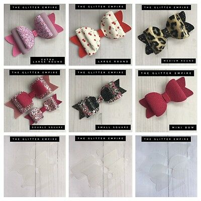 Plastic Bow Templates To Make Your Own Glitter Hair Bows Hair Clips / Slides