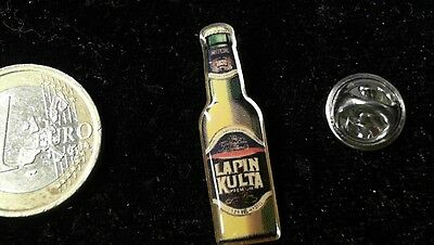 Bier Beer Pin Badge Lapin Kulta Premium Bierflasche Bottle