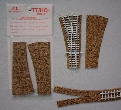 Itty Bitty Lines 1404 TT Scale Roadbed Left Hand Curved Turnout