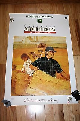 """JOHN DEERE Poster Honoring Americas Providers """"Continuing the Legacy"""" 1988 35x24"""