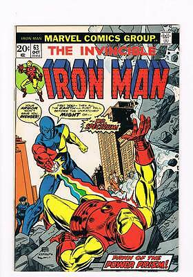 Iron Man # 63  Pawn of the Power Prism !  grade 8.5 scarce hot book !!