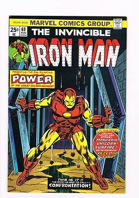 Iron Man # 69  Had to call this Confrontation grade 7.5 scarce hot book !!