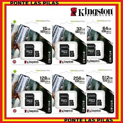 Tarjeta de Memoria Micro SD Kingston 32GB 64GB 128GB 256GB - Memoria MicroSD GB