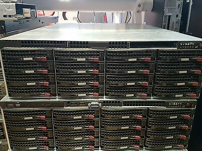 SuperMicro NAS OPEN Filer NAS SW 32 x 146Gb 15k HD 2 x Xeon 5160 8GB vmware san