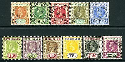 SEYCHELLES-1906  A fine used set to 2r 25 Sg 71-81
