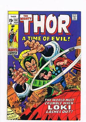 Thor # 191 A Time of Evil  !  grade 7.5 scarce hot book !!