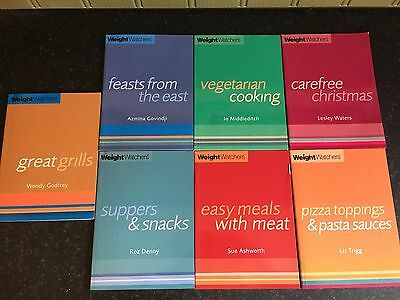 Weight Watchers recipe books x 7
