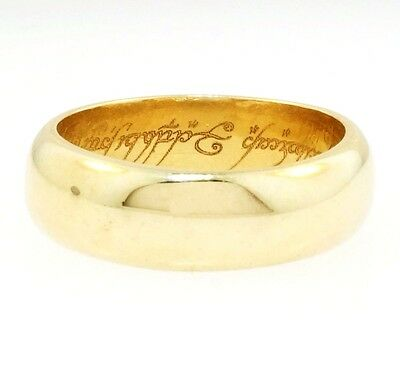 9Ct Yellow Gold D-Shaped 'Lord of The Rings' Band (Size I 1/2) 5mm