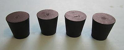 NEW #3 solid tapered rubber stopper plug (lot of 12)