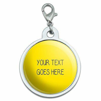Yellow Background Any Occasion Personalized Pet ID Tag