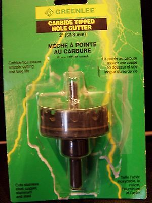 """Greenlee 38334 Carbide tipped hole cutter 2"""""""