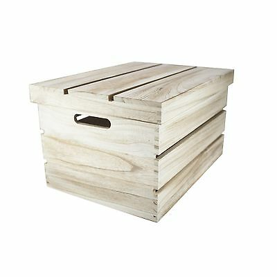 Set/3 or Single Shabby Vintage Chic Wooden Storage Crates with Lids