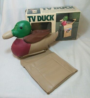 TV Duck Mallard Armchair Couch Remote Control Caddy Holder Organizer Vintage