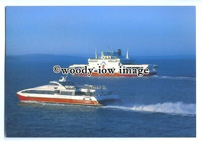 FE1330 - Red Funnel Ferries - Red Jet 4 , built 2003 & Red Falcon - postcard