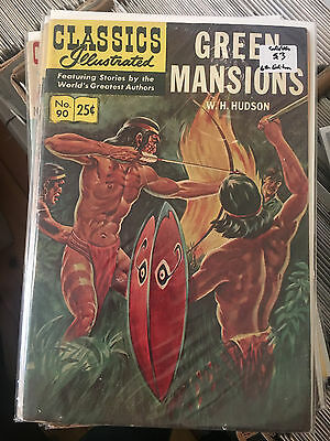 CLASSICS ILLUSTRATED #90 GD/VG 6th Print Green Mansions comic