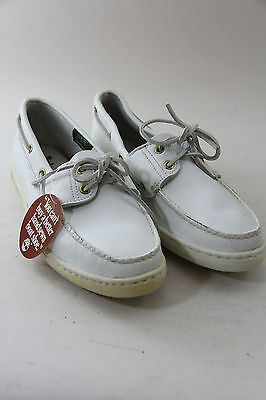 Timberland Vintage Leather Classic Boat Shoes 2 Eye 75061 White Made in U.S.A.