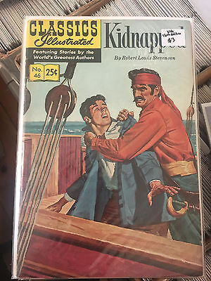 CLASSICS ILLUSTRATED #46 VG 16th Print KIDNAPPED comic
