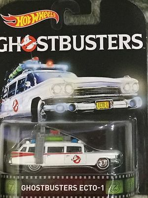 Hotwheels Retro Ghostbusters Ecto 1  Real Rider Rubber Wheels
