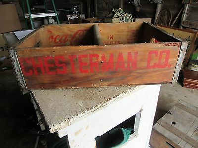 Vintage Chesterman Coke Wood Soda Crate Sioux City Iowa  Lot 16-77-5