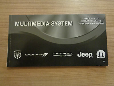 Chrysler/Jeep/Dodge Multimedia System Owners Handbook Manual