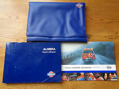 Nissan Almera Owners Handbook Manual and Pack 00-02