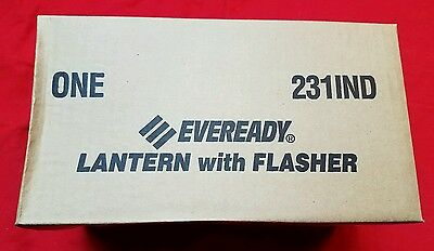 Eveready 231IND Industrial Lantern With Flasher, 6 Volt Screw Top