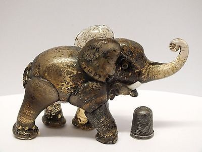 """Extremely RARE 1920's-30's MVM Cappellin Corroso """"Style"""" Glass Elephant Figure"""