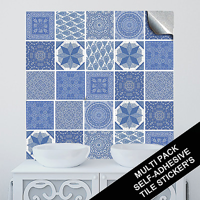 "Multi Pack Style Tile Sticker Decal Transfers For Kitchen Bathroom 6"" CTP07"