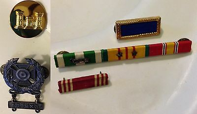 Lot Vintage WW II & Vietnam U. S. Military Medals Ribbon Bar & Army Sharpshooter